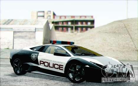 Lamborghini Reventon Police Car для GTA San Andreas