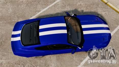 Ford Mustang GT 2015 Unmarked Police [ELS] для GTA 4 вид справа