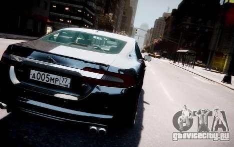 Jaguar XF-R 2012 v1.2 для GTA 4 вид снизу