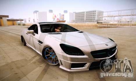 Mercedes Benz SLK55 AMG 2011 для GTA San Andreas вид сзади