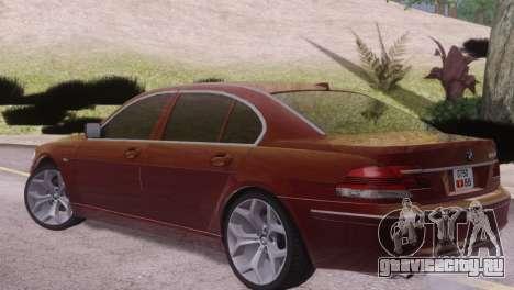 BMW 750Li E66 для GTA San Andreas вид справа