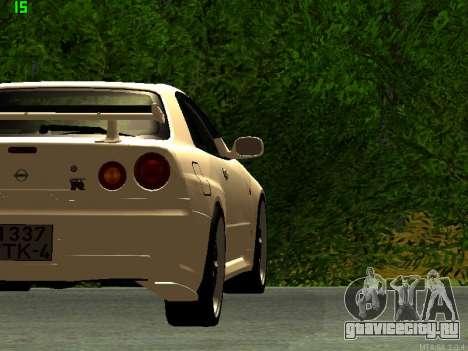 Nissan Skyline R34 GT-R для GTA San Andreas вид справа