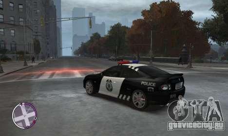 Holden Monaro CV8-R Police для GTA 4 вид слева