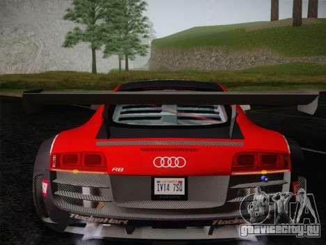 Audi R8 LMS Ultra Old Vinyls для GTA San Andreas вид снизу