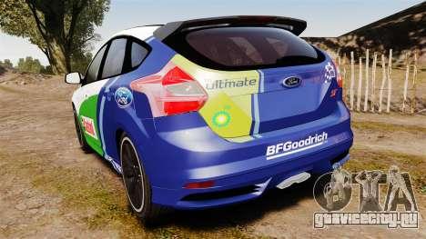 Ford Focus ST Rally для GTA 4 вид сзади слева