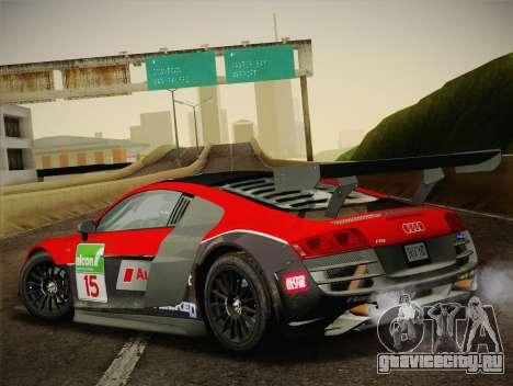 Audi R8 LMS Ultra Old Vinyls для GTA San Andreas салон