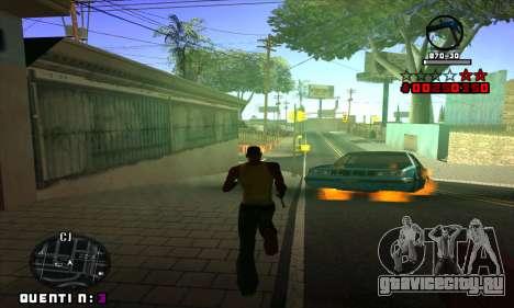C-HUD Quentin для GTA San Andreas пятый скриншот