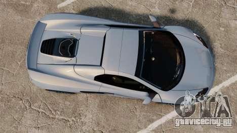 McLaren MP4-12C Spider 2013 для GTA 4 вид справа