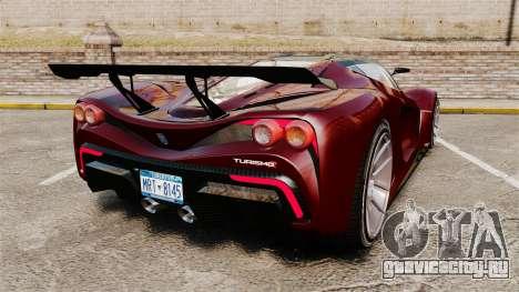 GTA V Grotti Turismo R v2.0 для GTA 4 вид сзади слева