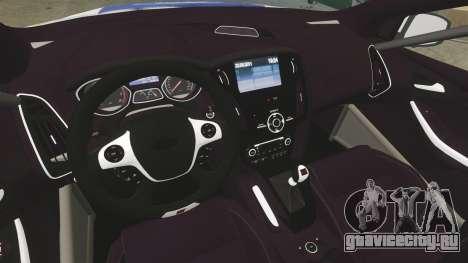 Ford Focus ST Rally для GTA 4 вид сзади