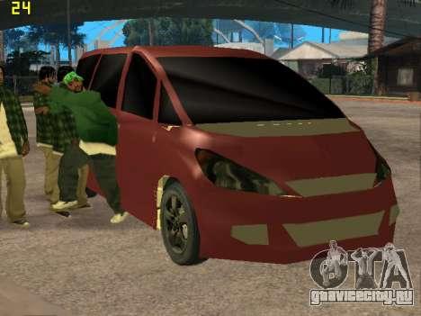 Toyota Estima 2wd для GTA San Andreas вид сзади