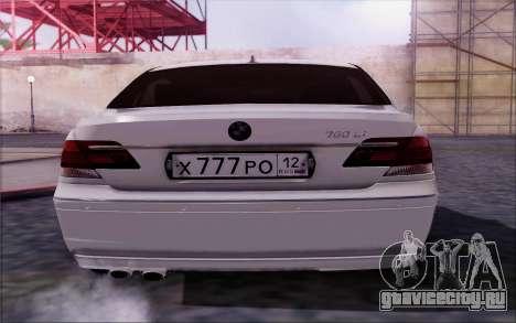 BMW 760Li E66 для GTA San Andreas вид справа