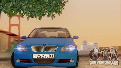 BMW 330i для GTA San Andreas вид изнутри