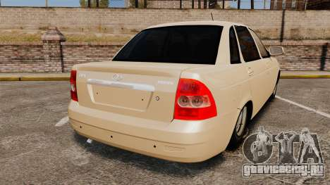 ВАЗ-2170 Lada Priora для GTA 4 вид сзади слева