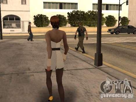 Девушка в белом платье для GTA San Andreas четвёртый скриншот