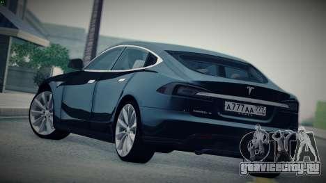 Tesla Model S для GTA San Andreas вид слева