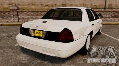 Ford Crown Victoria Traffic Enforcement [ELS] для GTA 4 вид сзади слева
