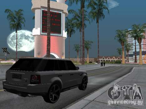 Range Rover Sport 2011 для GTA San Andreas вид сзади