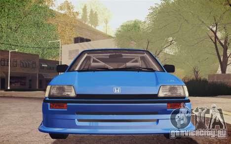 Honda Civic S 1986 IVF для GTA San Andreas вид сбоку