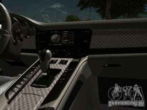 Porsche Panamera 2011 для GTA San Andreas вид изнутри