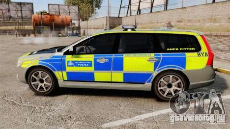 Volvo V70 ANPR Interceptor [ELS] для GTA 4 вид слева