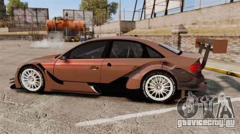 Audi A4 2008 Touring car для GTA 4 вид слева
