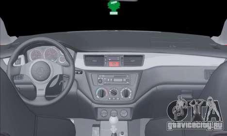 Mitsubishi Outlander Turbo 2005 для GTA San Andreas вид изнутри