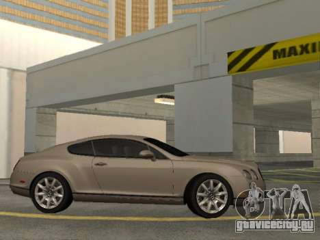 Bentley Continental Supersports для GTA San Andreas вид сзади слева