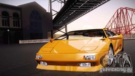 Lamborghini Diablo Stretch для GTA San Andreas вид сзади слева