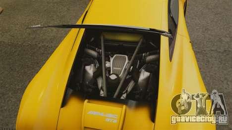 McLaren MP4-12C GT3 (Updated) для GTA 4 вид изнутри