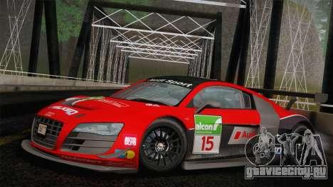 Audi R8 LMS Ultra Old Vinyls для GTA San Andreas вид изнутри
