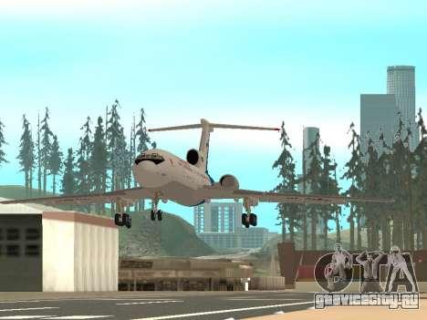 Ту-154 Б-2 ГТК Россия для GTA San Andreas вид сзади слева