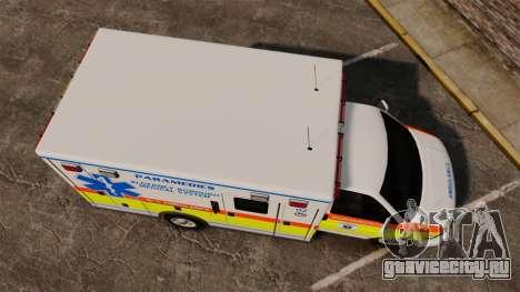 GMC Savana 2005 Ambulance [ELS] для GTA 4 вид справа