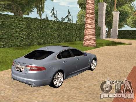 Jaguar XFR 2010 для GTA San Andreas вид слева