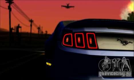 Ford Mustang GT 2013 v2 для GTA San Andreas вид изнутри
