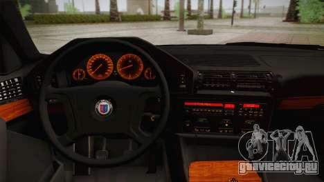 BMW E34 Alpina B10 для GTA San Andreas вид сзади