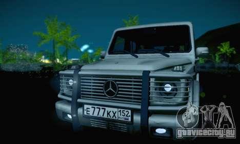 Mercedes-Benz G500 для GTA San Andreas вид сверху