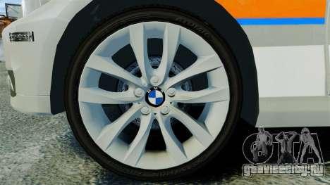 BMW 330i Touring Metropolitan Police [ELS] для GTA 4 вид сзади