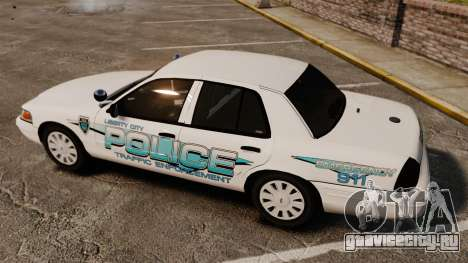 Ford Crown Victoria Traffic Enforcement [ELS] для GTA 4 вид сбоку