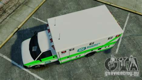 Brute Rural Metro EMS [ELS] для GTA 4 вид справа