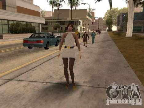 Девушка в белом платье для GTA San Andreas третий скриншот