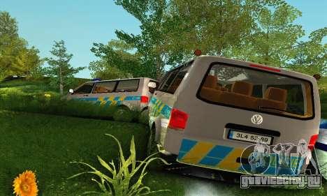 Volkswagen Transporter Policie для GTA San Andreas вид сверху
