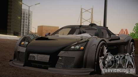 Gumpert Apollo Sport V10 для GTA San Andreas вид сзади