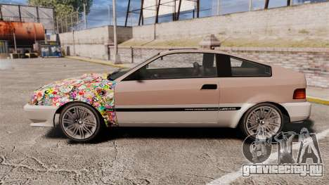 Blista Compact Sticker Bomb для GTA 4 вид слева