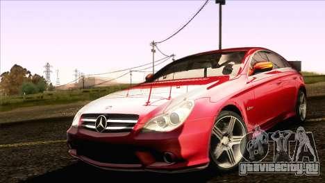Mercedes-Benz CLS 63 AMG 2008 для GTA San Andreas вид слева