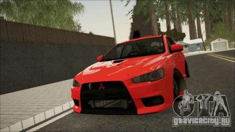 Mitsubishi Lancer X для GTA San Andreas