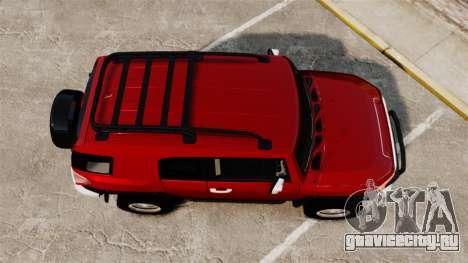Toyota FJ Cruiser 2012 для GTA 4 вид справа