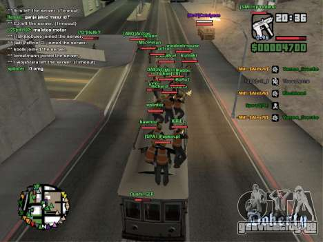 SA-MP 0.3z для GTA San Andreas восьмой скриншот