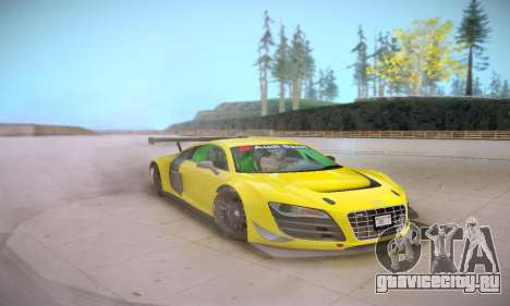 Audi R8 LMS Ultra v1.0.0 для GTA San Andreas вид изнутри