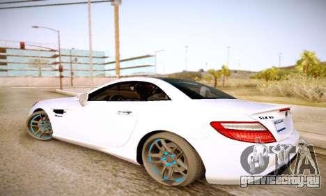 Mercedes Benz SLK55 AMG 2011 для GTA San Andreas вид слева